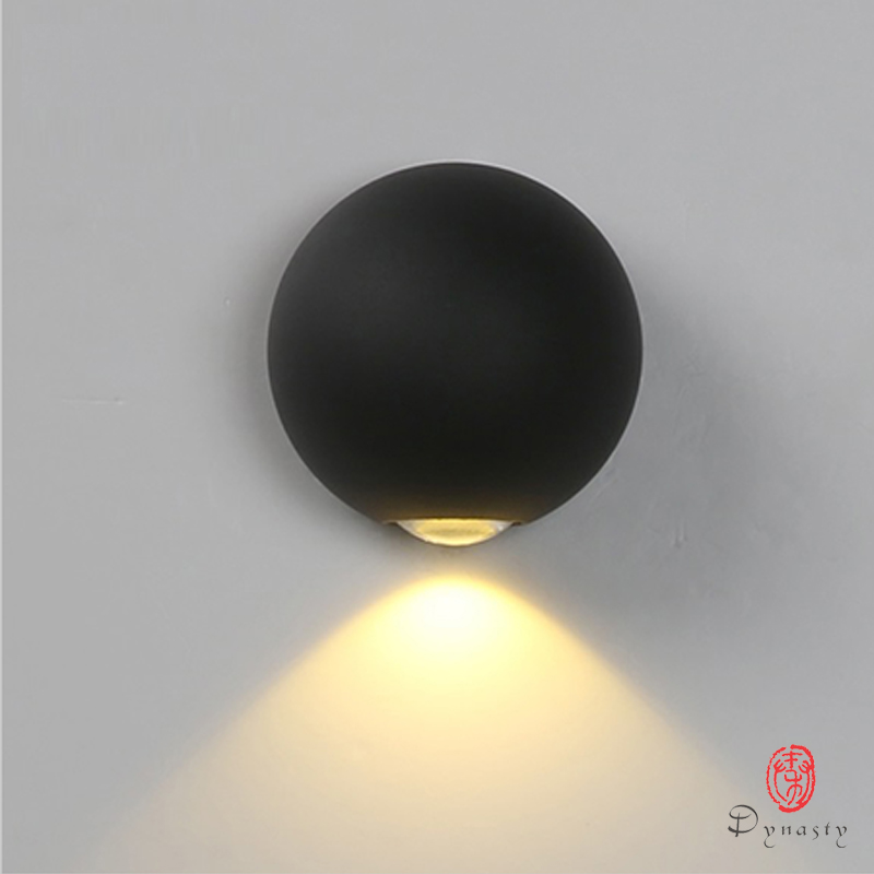 Dyansty Light Beam Decorative Wall Lights 1/2/4 Head Round Egg Indoor Wall Lamp DIY Pattern Wall Wash Lighting Restaurant Club