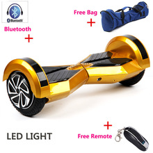 Hot popular 8 inch 2 Wheel Self Smart Balance Scooter Led light Bluetooth+Remote+Bag Electric Skateboard Hoverboard