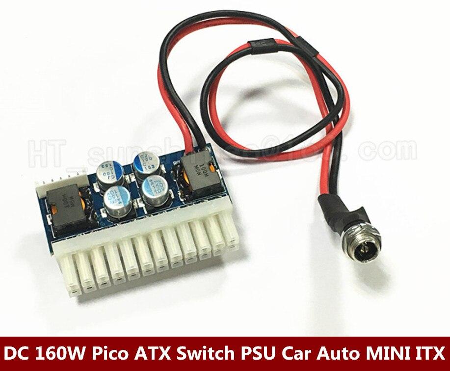 High Quality  20PCS/LOT  DC 12V 160W 24Pin Pico ATX Switch PSU Car Auto Mini ITX High Power Supply Module