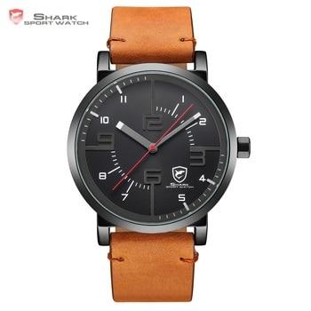 Bahamas Zag SHARK Sport Horloge Luxe Merk Mannen Klok Man Quartz Bruin Crazy Horse Lederen Waterdichte Casual Relogio Gift/ SH568