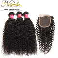 F/T/M Part Lace Closure Indian Curly Hair With Closure 6A 100 Human Hair Weave Indian Curly Virgin Hair Extensions VIP005
