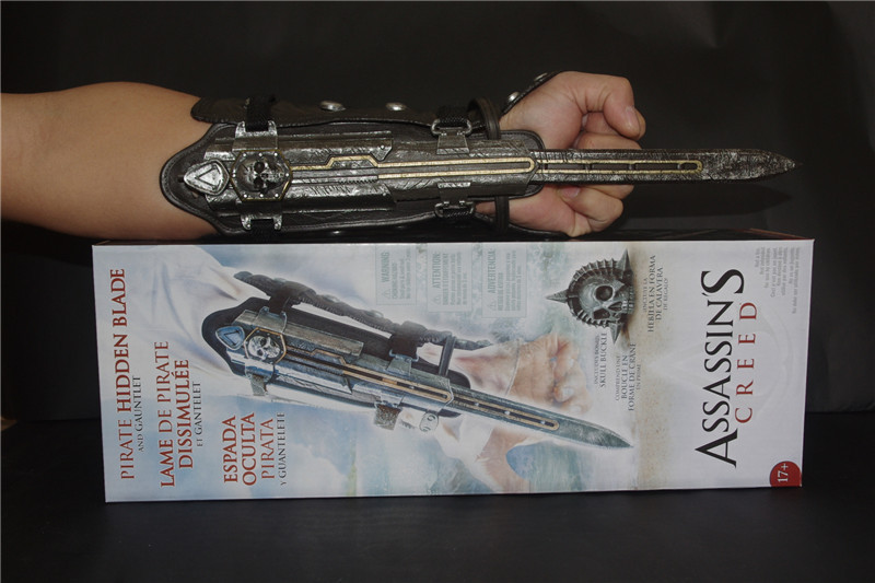 retail wholesale neca assassins creed 4 four black flag pirate hidden blade edward kenway cosplay new in box ac001