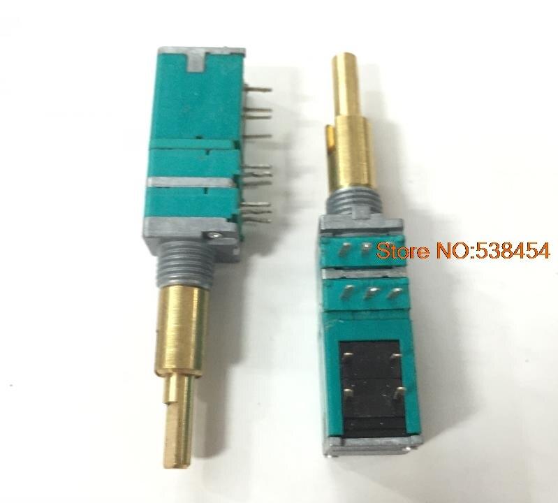 RK09 interrupteur à double potentiomètre | double axe A50K avec interrupteur auto-bloquant longueur de l'arbre 25MM