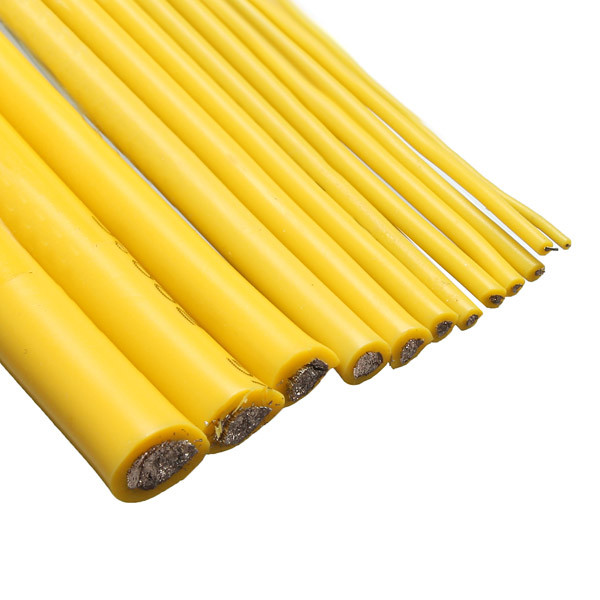 Three meters 8/10/<font><b>12</b></font>/14/16/18/20/22/24/26 <font><b>AWG</b></font> Yellow <font><b>Silicone</b></font> Wire Cable SR Wire image