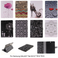 Wallet Flip Stand PU Leather Cover For Samsung GALAXY Tab S2 9.7 SM-T810 T815 Tablet Wallet Flip Smart Auto Sleep Function Case