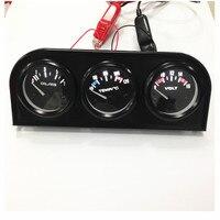 Car VoltMeter And Car Water Temp Gauge Car Oil Press Gauge 52mm Triple Gauge 3 In