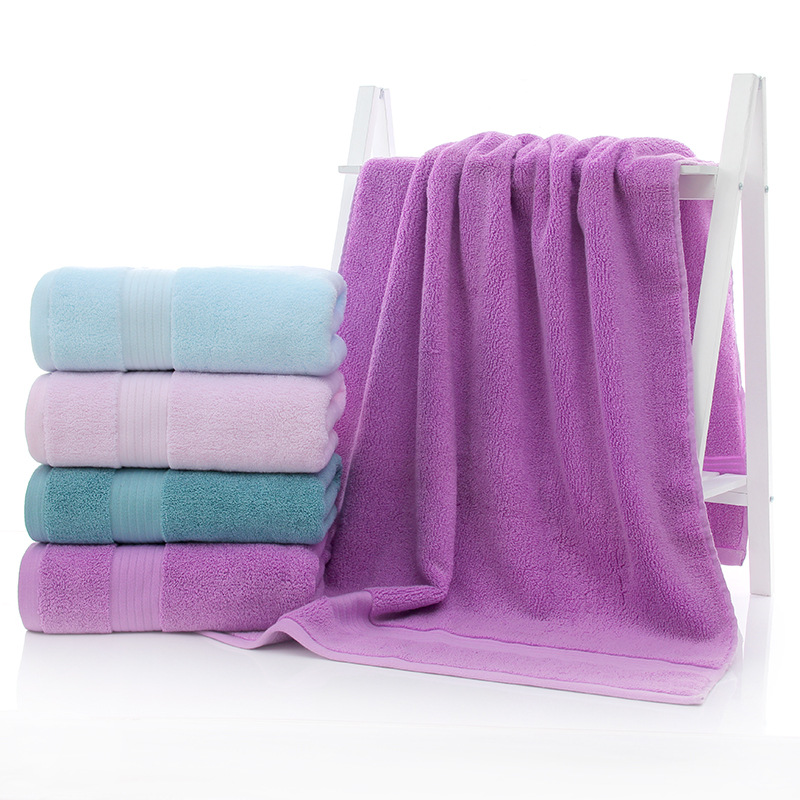 SunnyRain 3-Pieces Cotton Towel Set Solid Color Towels Bath Towel For Adults