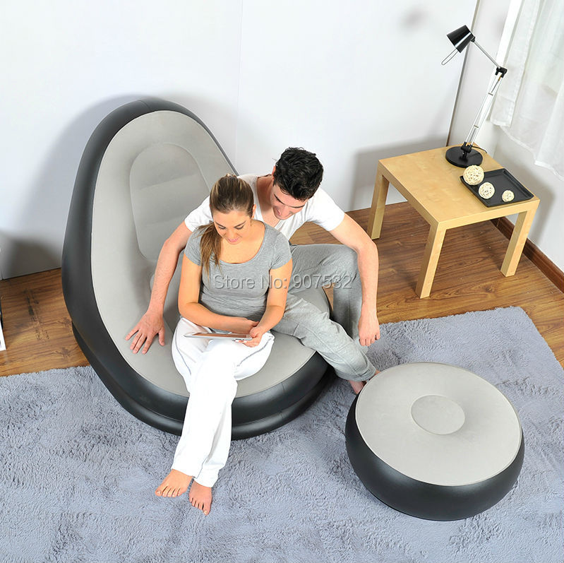 Groovy Birde Inflatable Sofa Chair With Ottoman Amazing Bedroom Onthecornerstone Fun Painted Chair Ideas Images Onthecornerstoneorg
