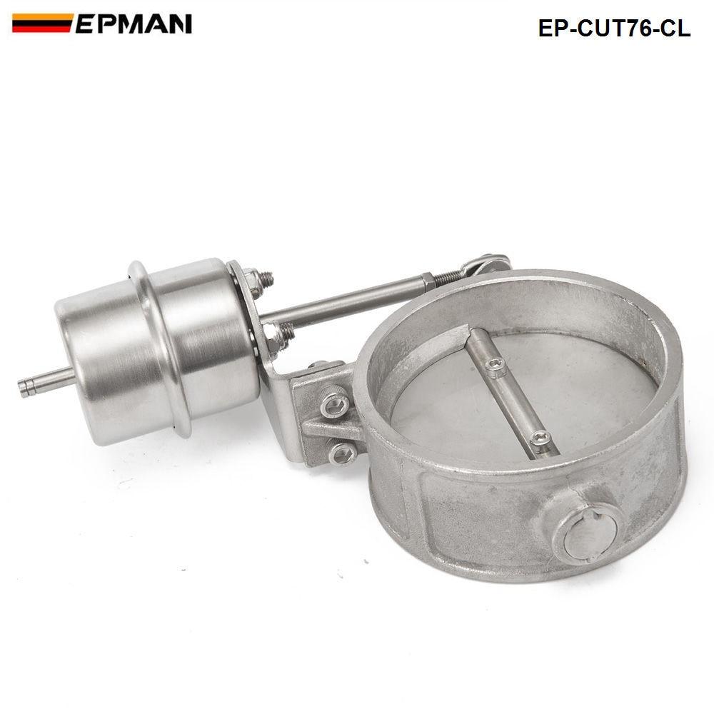 Вакуумный активированный Выпускной вырез 3 ''76 мм близкий Стиль давление: около 1 бар для BMW E30 3-серии EP-CUT76-CL