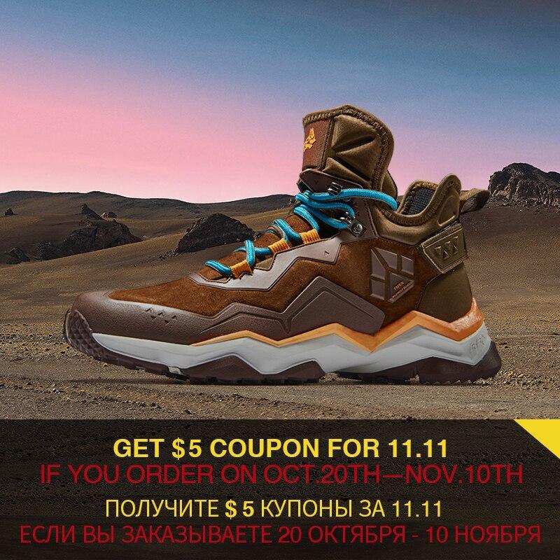 RAX hommes Chaussures de Randonnée Imperméables Anti-slip Trekking Multi-terrian LeatherHikingBoots de Mountaining Chaussures pour Hommes Professionnels