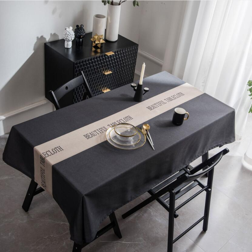 2019 New Arrival Beautiful Tablecloth English Letters Printed Table Cloth Home Polyester Waterproof Dining Table Cover Zc049 Tablecloths Aliexpress