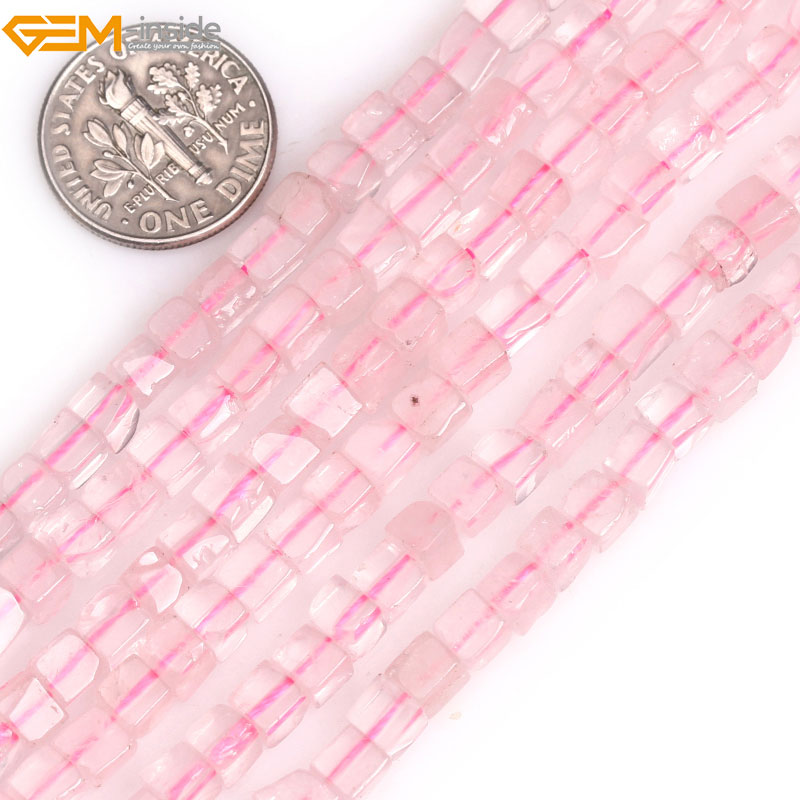 Gem-inside 4mm Natural Cube Beads Square Stone Beads For Jewelry Making DIY Jewellery Strands 15 Christmas Gift