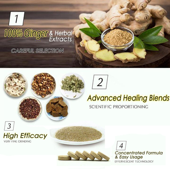 10pcs Anti-Swelling Foot SPA Ginger Foot Soaking Massage Effervescent Tablets Treatment for Foot Swelling Edema Ankle And Pain 1