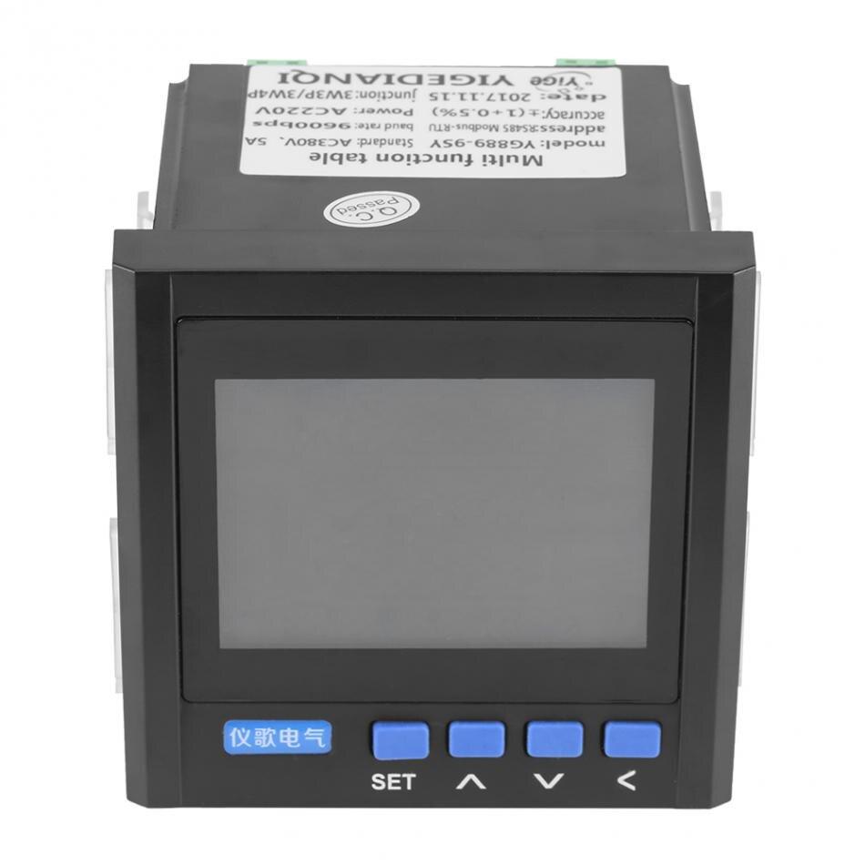 Compteur d'énergie de puissance de fréquence de tension de courant électrique multifonction à 3 phases VA Hz kWh RS485 en gros