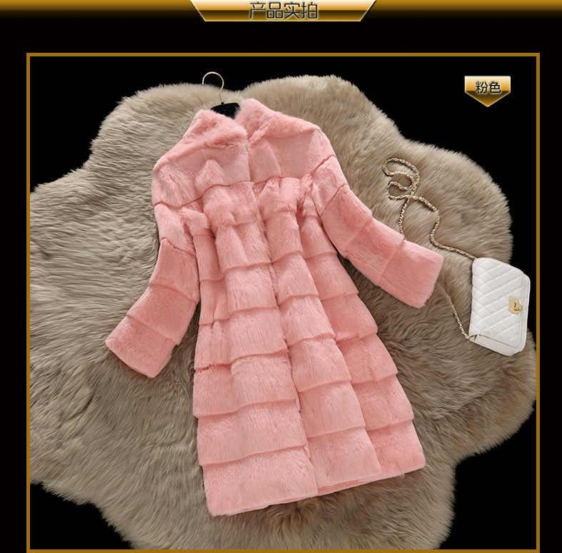 Одежда высшего качества волна cut натуральная натуральный Полный Пелт вся кожа Кролик Мех животных пальто для женщин модная куртка на заказ