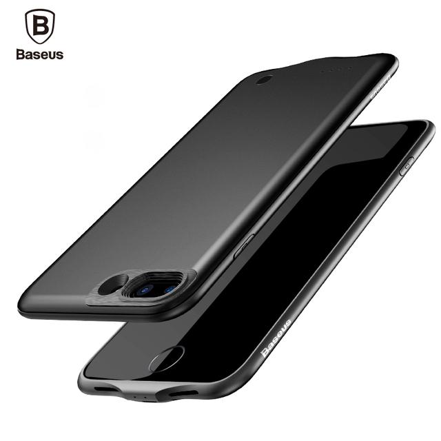 Baseus carregador case para iphone 7/7 plus 2500/3650 mah portátil power bank pacote de backup de bateria externa case capa para iPhone7