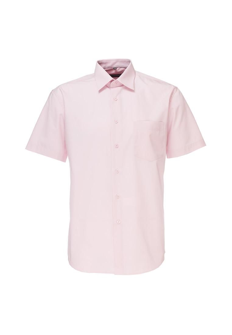 Shirt men's short sleeve GREG Gb620/309/LT ROSE/Z Pink v neck flower and bird print plus size short sleeve men s t shirt