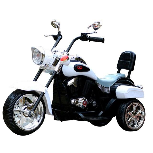 2017 Дети Могут Сидеть Три Колеса Электрический Автомобиль Игрушки Детские Электрический Мотоцикл с Музыкой Детей Harley Мотоцикла