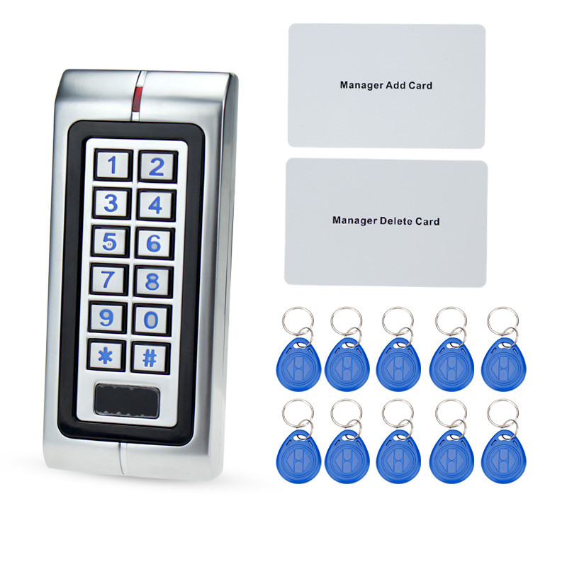 ip65 metal waterproof access controller 125khz rfid card reader keypad with 10 keys for door. Black Bedroom Furniture Sets. Home Design Ideas