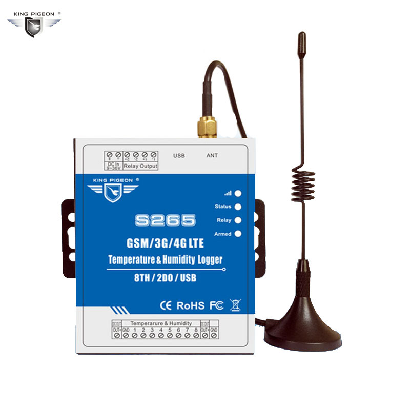 S265 регистратор данных сигнализации 2 г/3g/4 г Температура влажность GSM контроллер удаленного SMS/вызова охранной сигнализации Системы IOS прилож