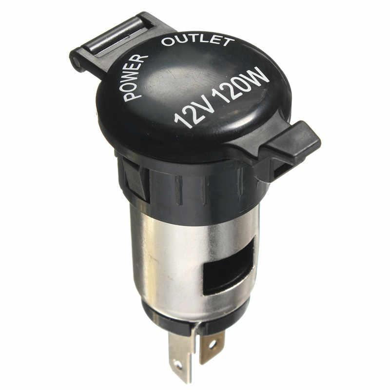 12 V 120 W Mobil Cigarette Lighter Socket Plug Daya Outlet untuk Sepeda Motor Charger Mobil Untuk GPS Telepon Kamera MP3