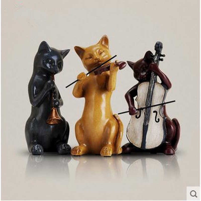 European creative home decorations, three musical Cats decorative handicrafts