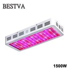 Bestva 1500 Вт полный спектр привело светать двойной фишки epistar растет панель лампы для комнатных растений Вег красный/ синий/белый/uv/ir