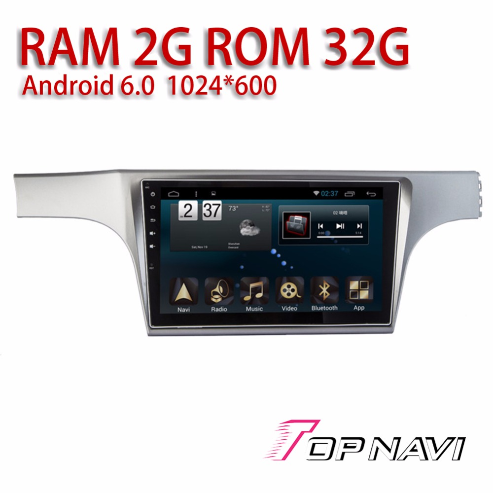 Auto Radio Tuner for VW Lavida 2012 10.1'' Android 6.0 Topnavi Car Head Unit GPS Navigation with Free Map Software Back Camera