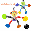 New born baby toys Infant Plush Animal Rattle Toys Crib Car Bed Accessories Monkey Frog Bed Hanging Rattles Educational Toy