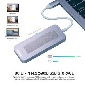 Image 2 - MINIX NEO C S2 Hub USB USB C SSD multipuerto almacenamiento tipo C Hub HDMI USB 3,0 120G/240G transferencias de alta velocidad todo en uno para MacBook