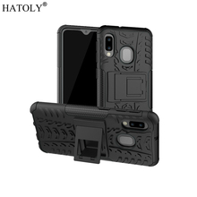 For Samsung Galaxy A10E Case Rubber Silicone Armor Hard PC TPU Phone Cover for