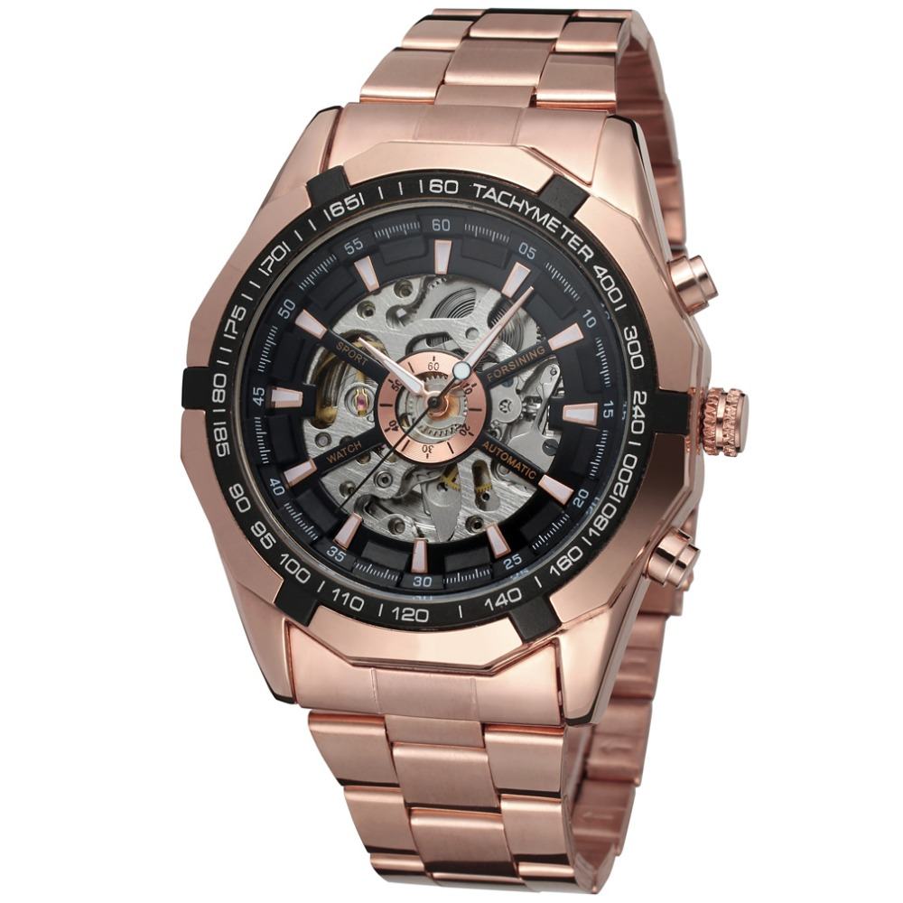 Forsining Brand Luxury Watch Men Fashion Automatic Mechanical Men Fashion Skeleton Vintage Wristwatch Clock Relogio Masculino forsining gold hollow automatic mechanical watches men luxury brand leather strap casual vintage skeleton watch clock relogio