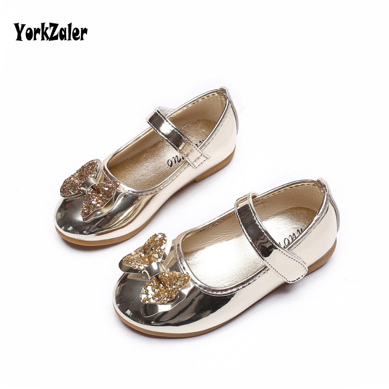 Yorkzaler Spring Autumn Fashion Girl Shoes Party Leather Sequins Bowknot Flats  Kids Toddler Baby Casual waterproof 63b8c804cc1f