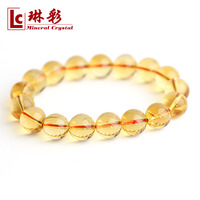 5a natural yellow crystal bracelet natural crystal bracelet identification certificate