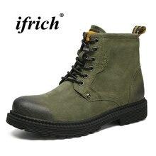 0517a920de2 2018 новый тренд зимняя обувь для Для мужчин Обувь на теплом меху рабочие  ботинки зеленый серый