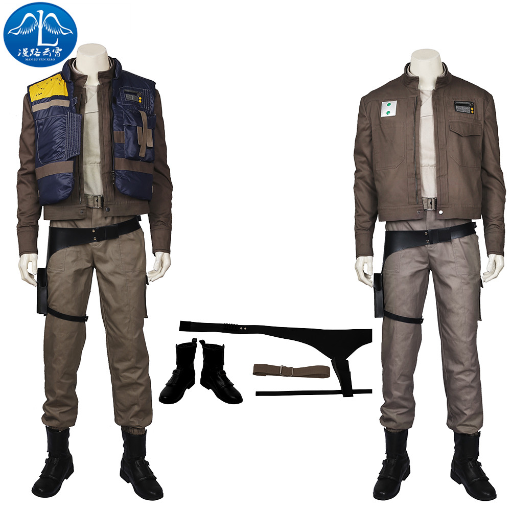 Rogue One: A Star Wars Story Cosplay Costume Men Cassian Andor Cosplay Disfraz Disfraces de Halloween para hombres Set completo a medida