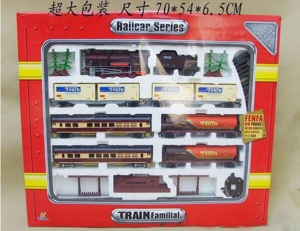 Frete grátis! trem a vapor longo 9.4 metros de trem trilha trens de brinquedo elétrico para crianças caminhão para meninos ferroviário presente aniversário - 4