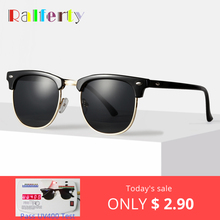 Ralferty Retro Sunglasses Men Women 2019 Rivet Square UV400 Black Colored Sun Glasses Male Sunglases Cheap Dropship NO LOGO X828