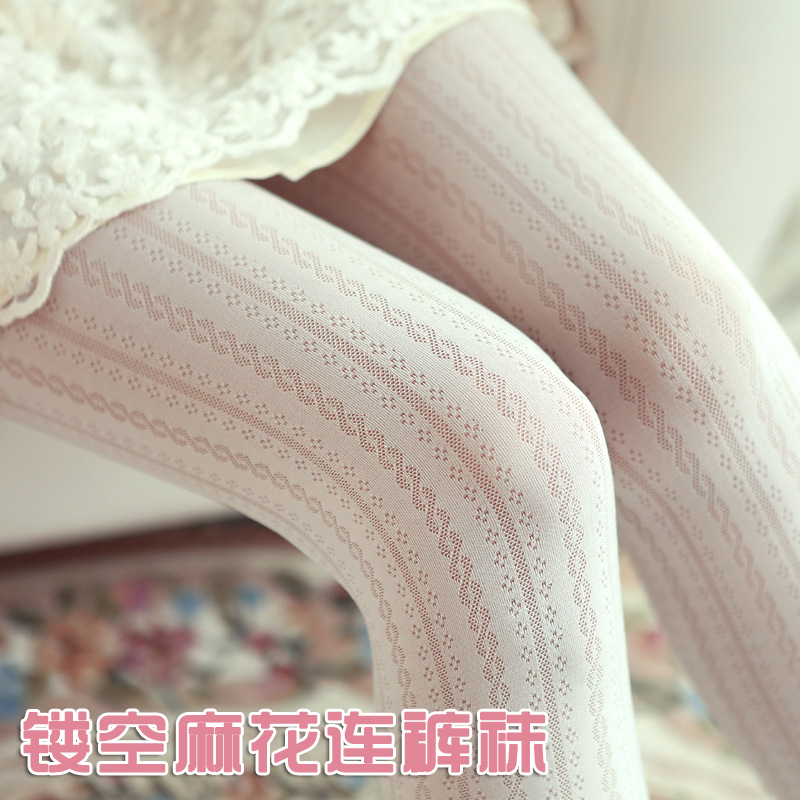 2017 Spring Autumn Sexy Hollow Twist Stockings Sexy Femme Fantaisie Sheer Tights Nylons Lingerie Garter Pantyhose Tights Women