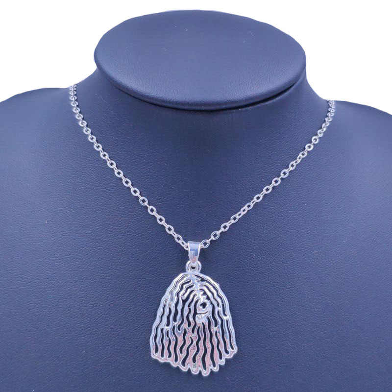 2019 Bergamasco pasterz pies zwierząt wisiorek naszyjnik złoty posrebrzane biżuteria dla kobiet mężczyzna kobiet dziewczyny śliczne N180