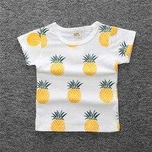 Новинка года; летняя футболка для маленьких мальчиков детские топы с рисунком ананаса; футболка для девочек Одежда для мальчиков детские футболки