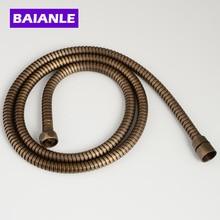 antique Plumbing hose flexible Stainless steel double interlocked bathroom shower bath 1.5m