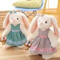 35 cm caliente nueva chica romántica del regalo de cumpleaños vestido de conejo de conejito de peluche de juguete animales de peluche de regalo envío libre m13