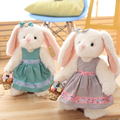 35cm hot new girl romantic birthday gift plush toy bunny rabbit dress plush animal gift free shipping m13