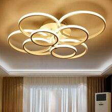 Circel Кольца Для Поверхностного Монтажа Современные светодиодные гостиной спальня потолочная Люстра светильники акриловые светодиодные потолочные Люстры