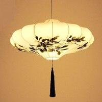 Chinese style fabric Pendant Light restaurant antique ldroplight originality classical art hand painting lamp pendat LU621 ZL495