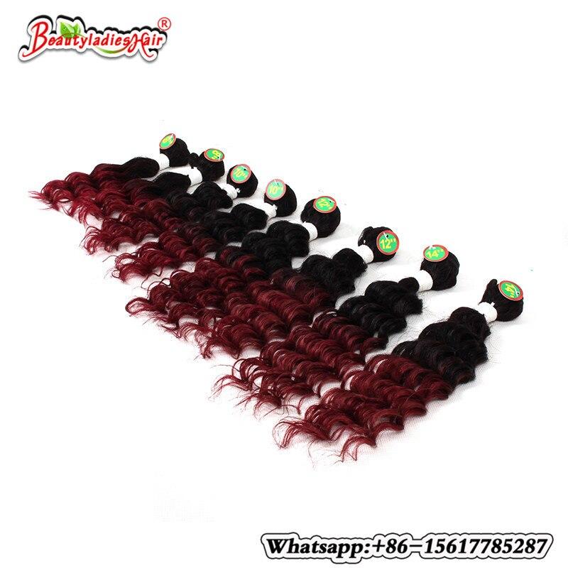 Naturlig Mänsklig Afro Kinky Curly Hair 8 st / lot Brasilian Kinky - Syntetiskt hår - Foto 2
