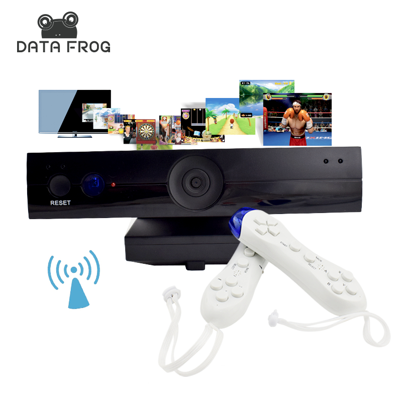 Data Frog Wireless HD TV Game Consoles For Double Parent Child Interactive Video Game Player Machine
