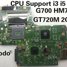 Материнская плата abdo G700 для ноутбука BAMBI основная плата REV: 2,1 11S102500433 подходит для lenovo G700 ноутбук PC