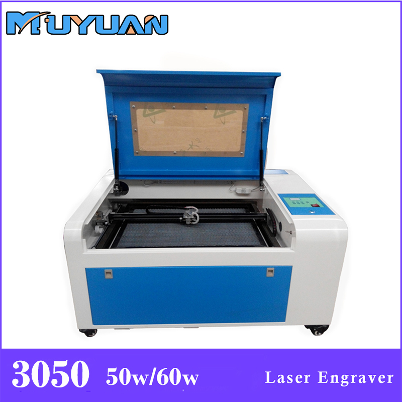 Co2 3050 50w / 60w laser engraving machine cutter machine CNC laser engraver, DIY laser marking machine, carving machine